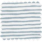 Tissu enduit rayé bleu blanc - PPMC