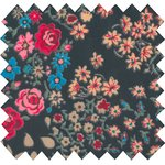 Tissu enduit rose argentée - PPMC