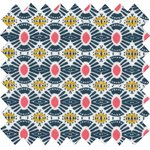 Tissu enduit soleil ethnique - PPMC