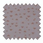 Coated fabric triangle cuivré gris - PPMC