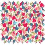 Coated fabric pastel tulip - PPMC