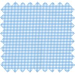 Coated fabric sky blue gingham - PPMC