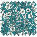 Coated fabric celadon violette - PPMC