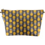 Cosmetic bag with flap pineapple - PPMC