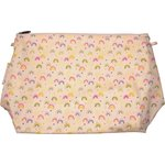 Cosmetic bag with flap rainbow - PPMC
