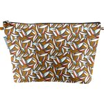 Cosmetic bag with flap cocoa pods - PPMC