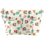 Cosmetic bag with flap carnaval d'eléphants - PPMC