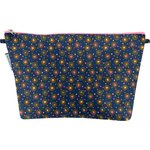 Cosmetic bag with flap glittering heart - PPMC
