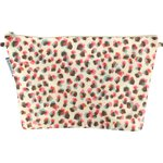 Cosmetic bag with flap watercolor confetti - PPMC