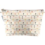 Cosmetic bag with flap   copa-cabana - PPMC