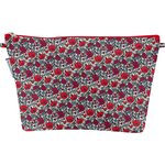 Cosmetic bag with flap poppy - PPMC