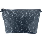 Cosmetic bag with flap etoile argent jean - PPMC