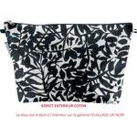 Bolsa de baño con lengüeta follaje tinta china - PPMC