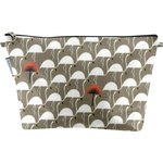 Cosmetic bag with flap flamingo - PPMC