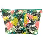 Cosmetic bag with flap bracken - PPMC