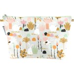 Cosmetic bag with flap water green rabbit - PPMC