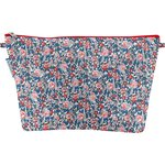 Cosmetic bag with flap flowered london - PPMC