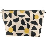 Cosmetic bag with flap golden moon - PPMC