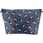 Cosmetic bag with flap flowered night - PPMC