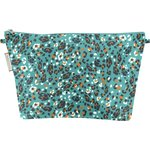 Cosmetic bag with flap jade panther - PPMC