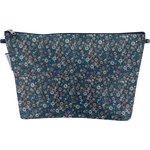 Cosmetic bag with flap paquerette marine - PPMC