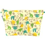 Cosmetic bag with flap sloth - PPMC