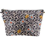 Cosmetic bag with flap ochre flower - PPMC