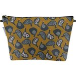 Cosmetic bag with flap hen facet - PPMC