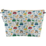 Cosmetic bag with flap surfing paradise - PPMC