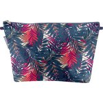 Cosmetic bag with flap tropical fire - PPMC