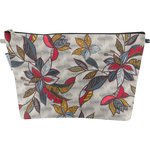 Cosmetic bag with flap wax flowery - PPMC