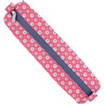 Round pencil case small flowers pink blusher - PPMC