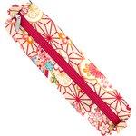Cartuchera tubo flores origamis - PPMC