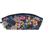 Pencil case pink blue dalhia - PPMC
