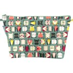 Cosmetic bag with flap animals cube - PPMC