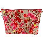 Cosmetic bag with flap flower of cherry tree - PPMC