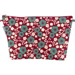 Cosmetic bag with flap ruby cherry tree - PPMC