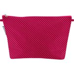 Cosmetic bag with flap etoile or fuchsia - PPMC