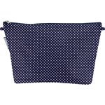 Cosmetic bag with flap navy gold star - PPMC