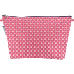 Cosmetic bag with flap small flowers pink blusher - PPMC