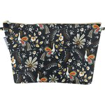 Cosmetic bag with flap lyrebird - PPMC