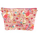 Cosmetic bag with flap flowers origamis  - PPMC