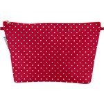 Cosmetic bag with flap red spots - PPMC