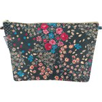 Cosmetic bag with flap silvery rose - PPMC