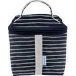 Small vanity striped silver dark blue - PPMC