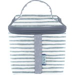 Small vanity striped blue gray glitter - PPMC