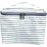 Large vanity striped blue gray glitter - PPMC