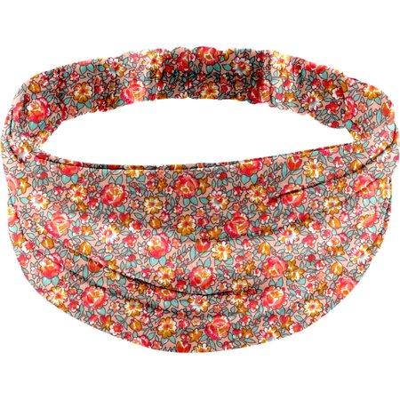Headscarf headband- Adult size peach flower