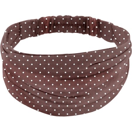 Headscarf headband- Adult size brown spots
