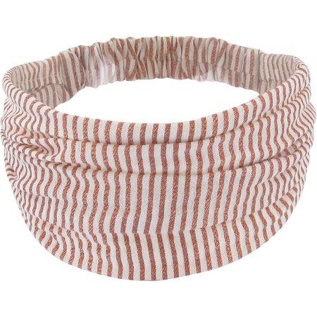 Turbantes para adulto rayado cobre